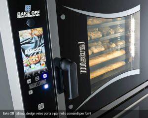 design vetro porta e pannello comandi per forni